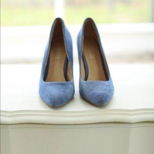 Suede Aldo high heels
